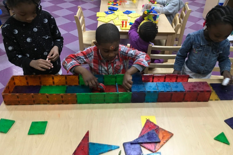 Our Farragut Road Preschool Class at Work and Play