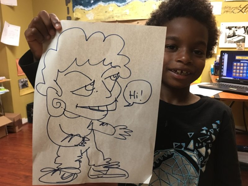 Child with Caricature