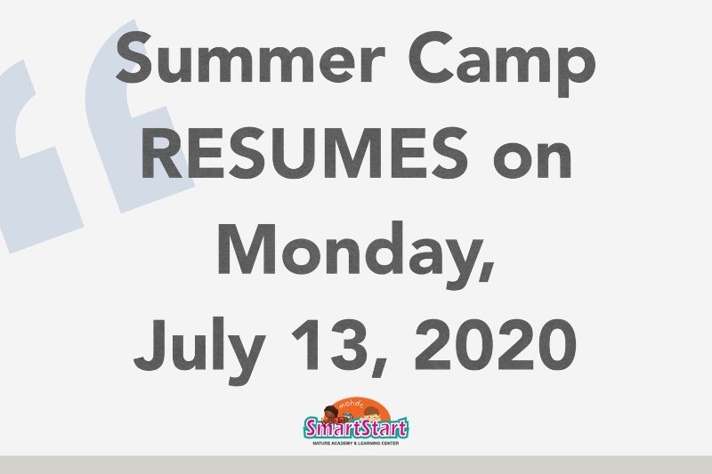 Summer Camp Resumes In-Person on July 13th